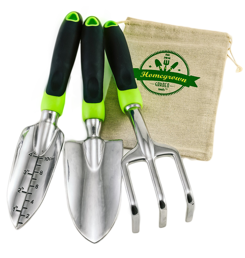 set de de jardinera piezas con agarraderas ergonmicas homegrown garden tools